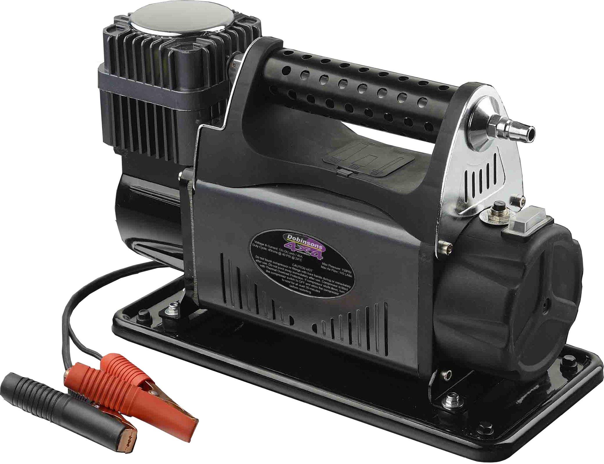 Dobinsons 4x4 Portable 12V High Output Air Compressor Kit with Bag, Hose and Gauge