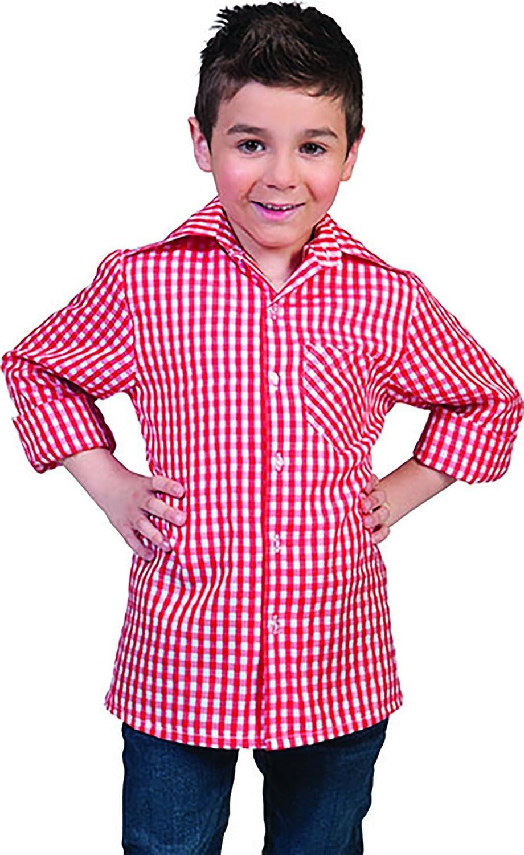 confettery – Cuadros Camisa de manga larga Disfraz Para Niños, 116 ...