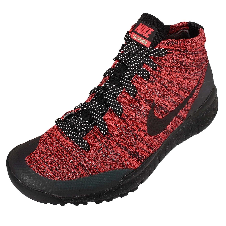 7716a35495817 Nike Womens W Flyknit Trainer Chukka FSB Bright Crimson Black-Sequoia Fabric  Size 9  Amazon.in  Shoes   Handbags
