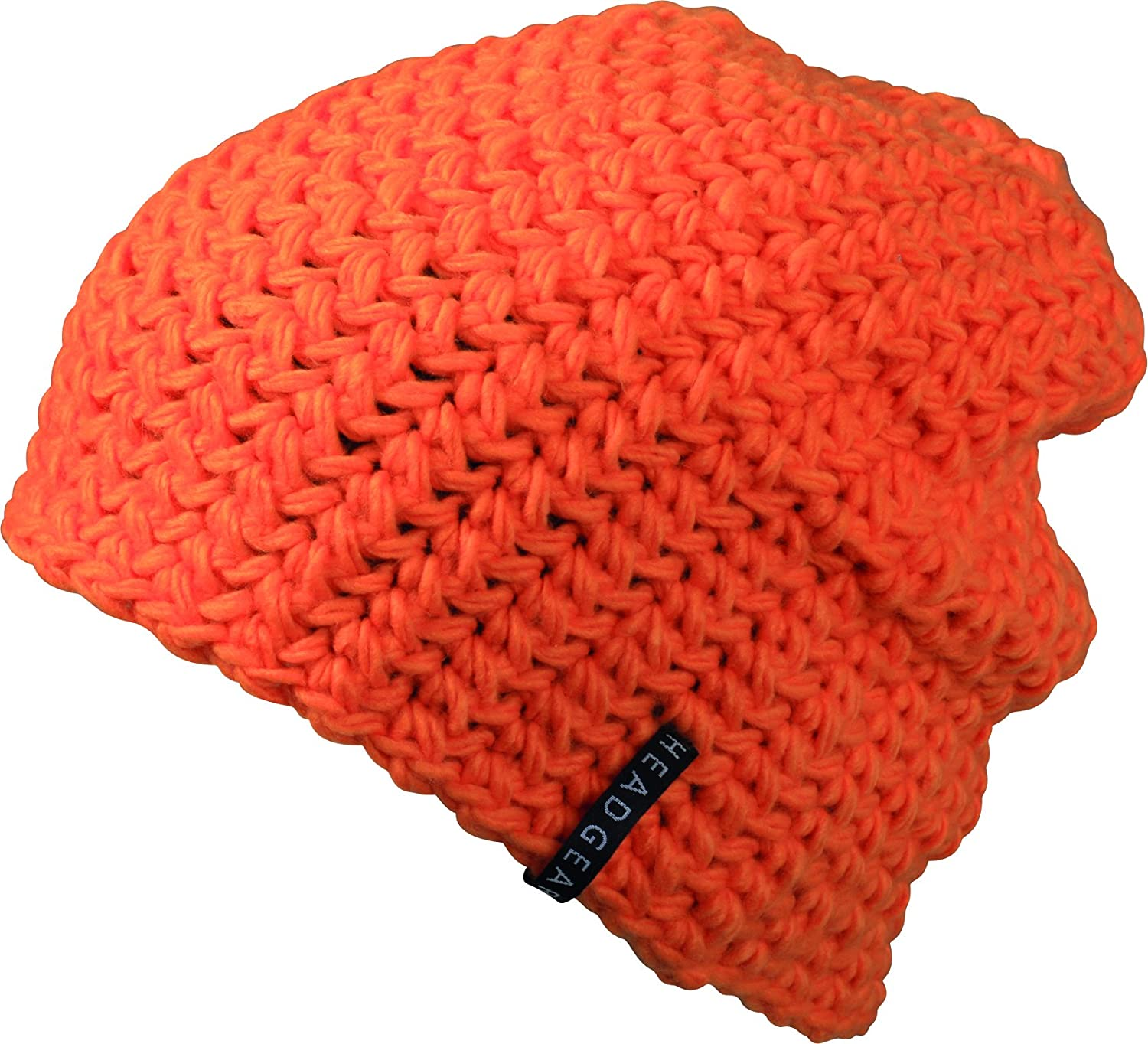 Oversize - Häkelbeanie One Size,Orange
