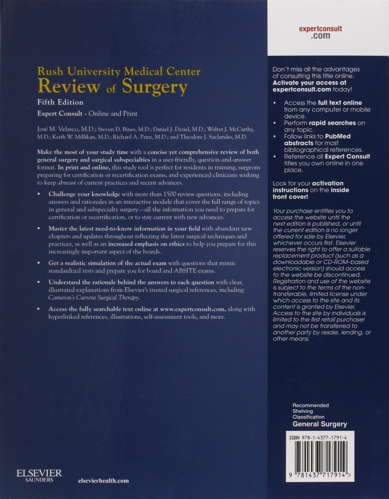 Rush university medical center review of surgery e-book kindle.