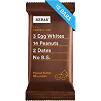 RXBAR Whole Food Protein Bar, Peanut Butter Chocolate, 1.83oz Bars, 12 Count