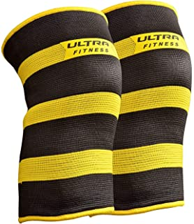 9cb7a4a0d4 ULTRA FITNESS Double Ply Knee Sleeves for SQUATS Powerlifting compression  Support