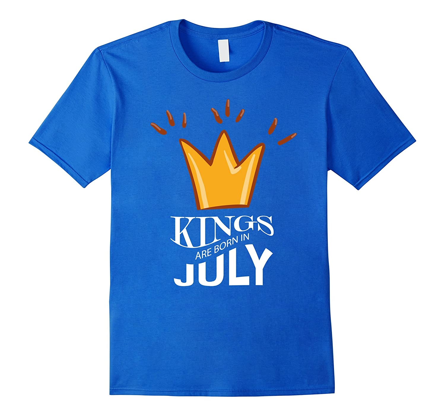 Kings Are Born In July T-Shirt Birthday King Crown Shirt