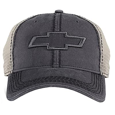 Chevrolet Mesh Hat (Grey) One Size: Clothing