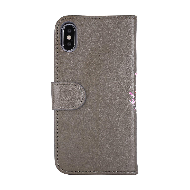 Mosoris Custodia iPhone 7 8 Fenicotteri PU Flip Cover Portafoglio+
