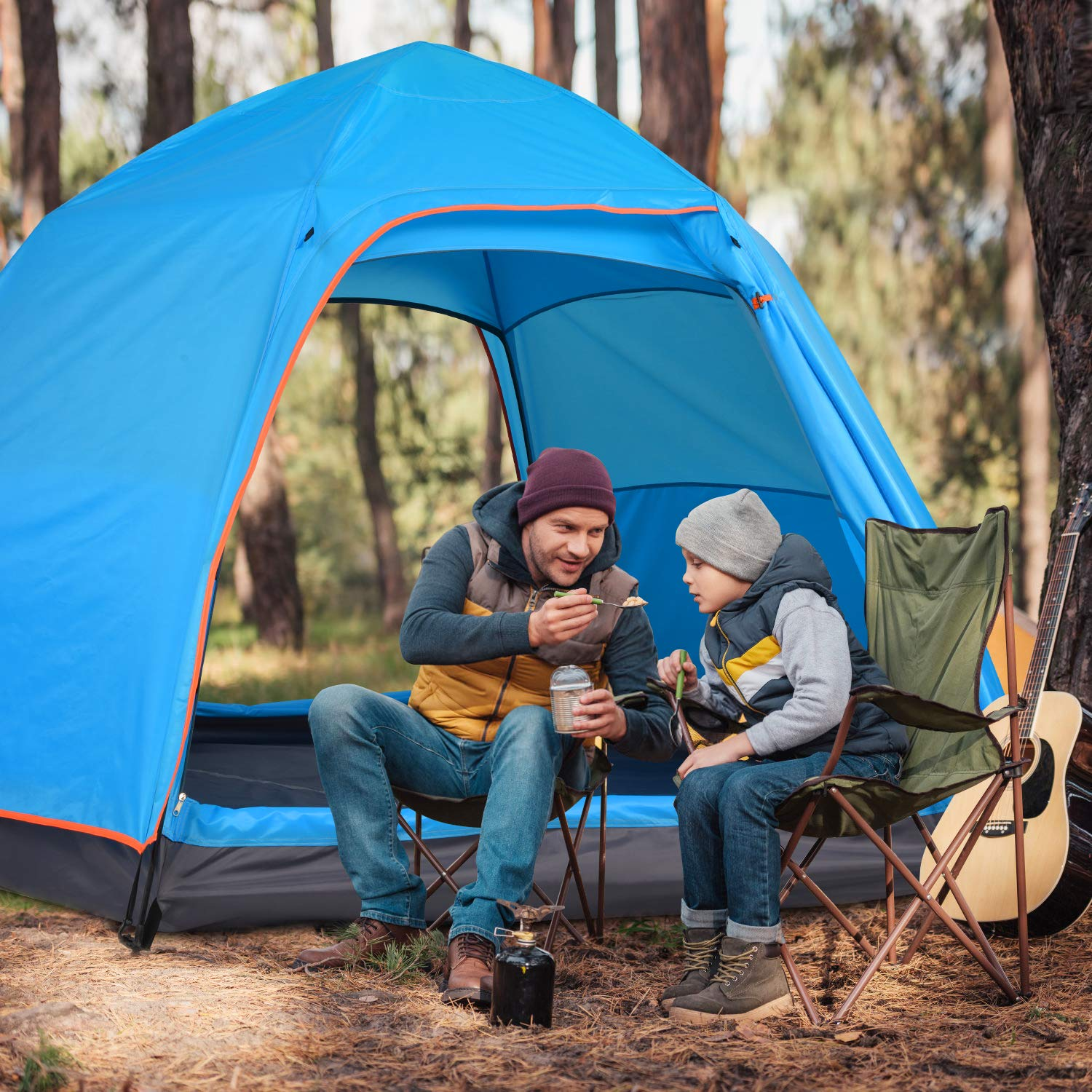 BATTOP 4 Person Tent for Camping Double Layer Family ...