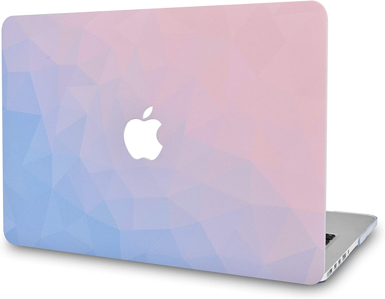 LuvCase Laptop Case for MacBook Air 13 Inch (2020/2019/2018) A2179/A1932 Retina Display (Touch ID) Rubberized Plastic Hard Shell Cover (Ombre Pink Blue)