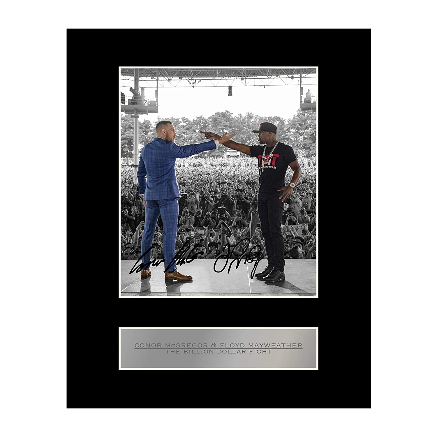 Conor McGregor and Floyd Mayweather Signed Mounted Photo Display Iconic pics