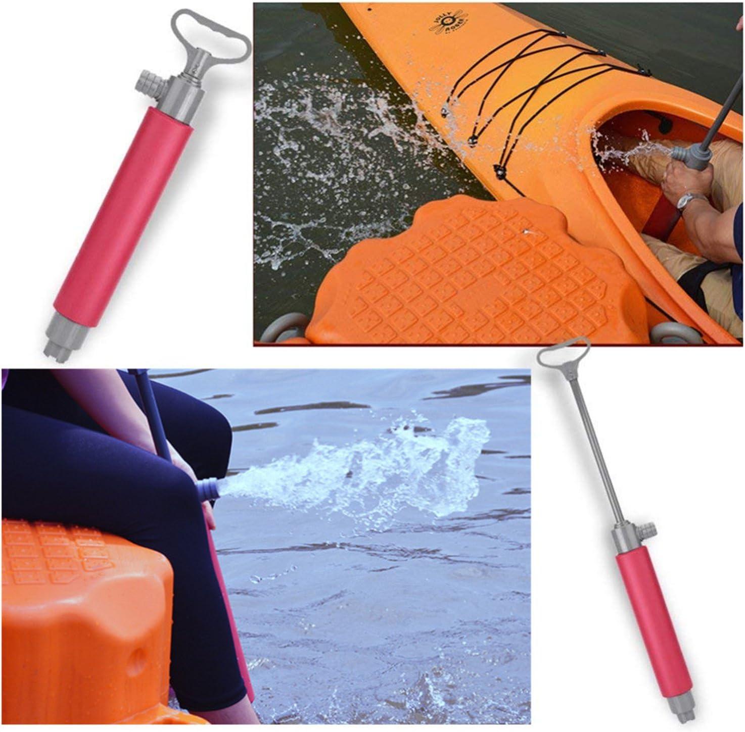 Yarr Store Kayak Bilge Hand Pump Floating Manual Water Pump Emergency Hand Pump for Kayak Rescue Canoe Accessories