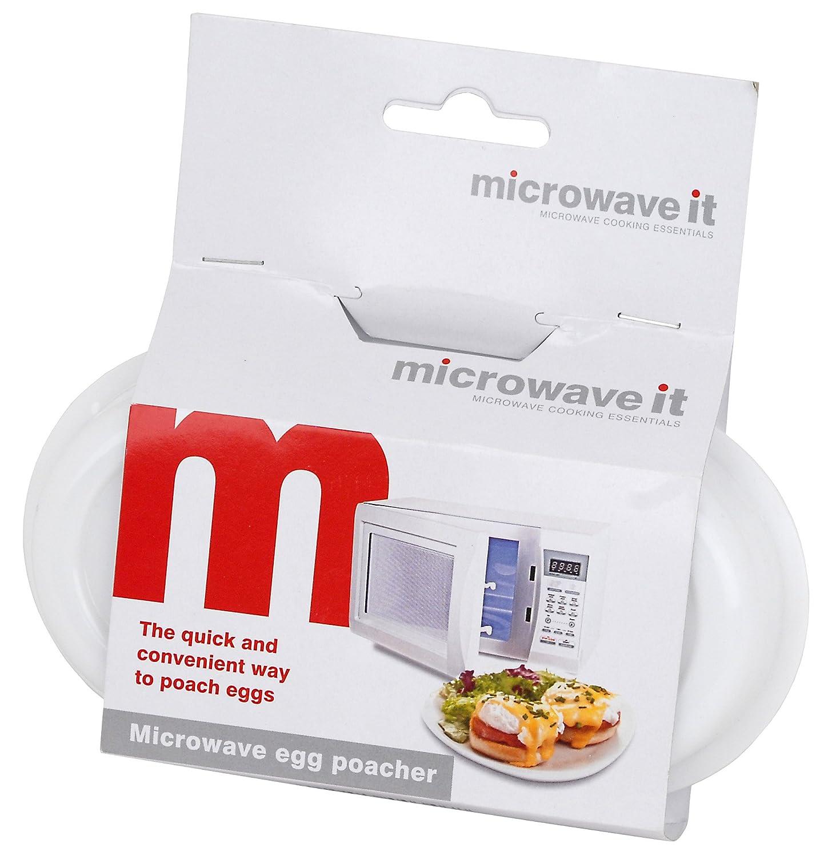 Microwave it - Escalfador de huevos para microondas: Amazon.es