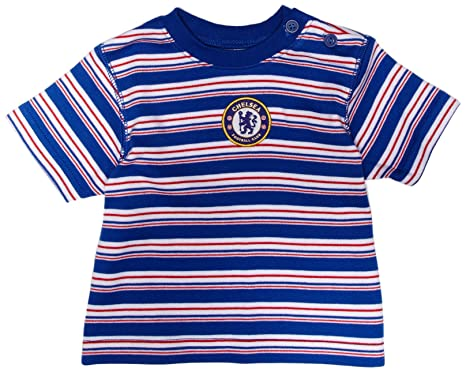 59da6a1a8 Chelsea Football Club Unisex Baby T-Shirt with Horizontal Stripes and Club  Badge In Centre Reflex Blue/White 3 to 6 Months: Amazon.co.uk: Clothing