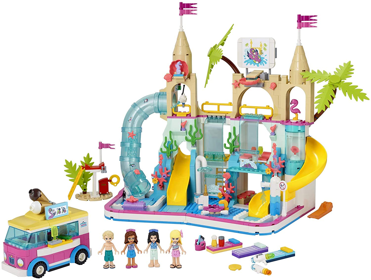 LEGO Friends Summer Fun Water Park 41430 Set Featuring Friends Stephanie Perfect Set for Creative Play Emma 1,001 Pieces Olivia and Mason Buildable Mini-Doll Figures New 2020