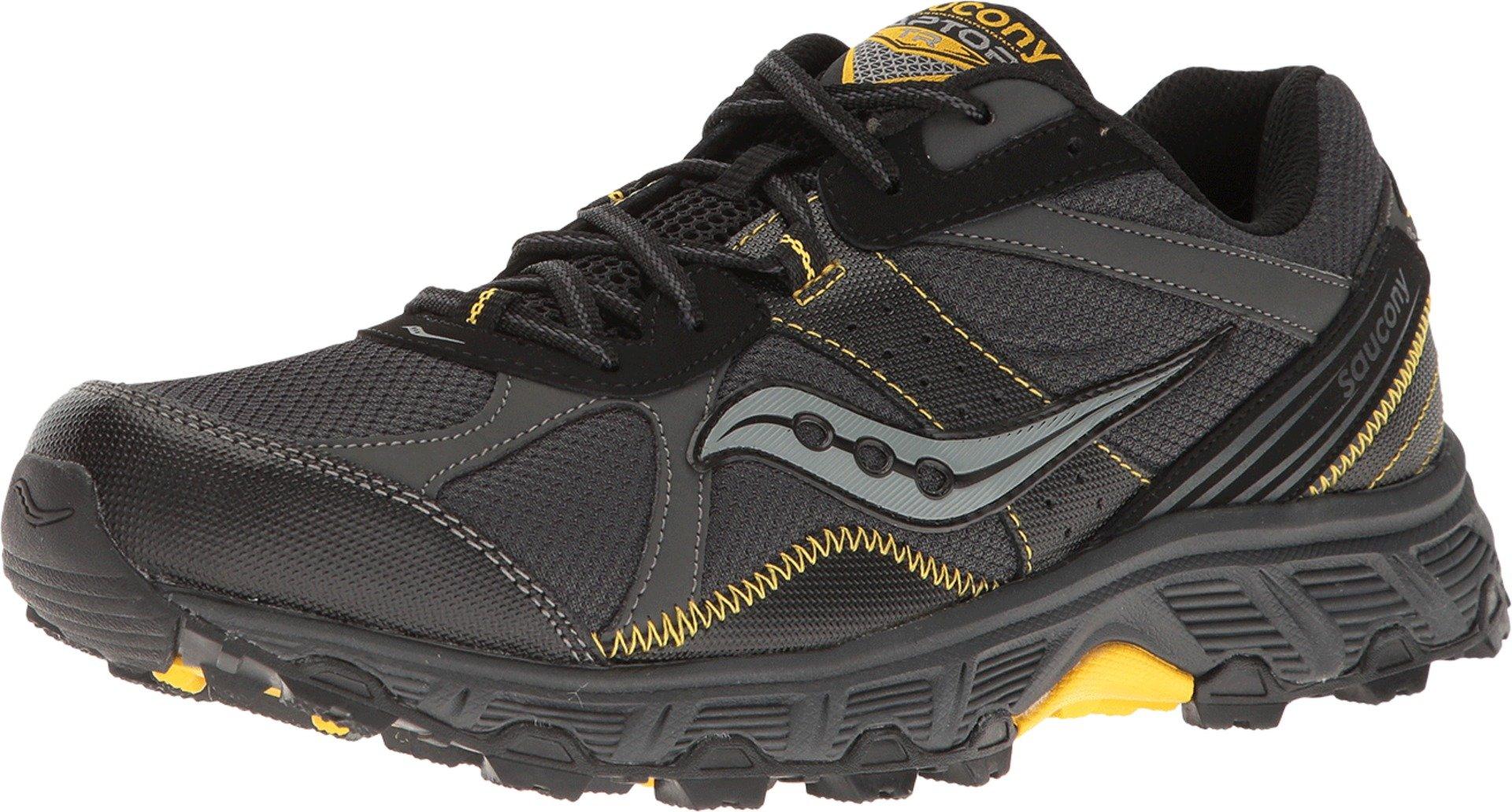 Saucony  Men's Grid Raptor TR Black/Grey/Yellow 10.5 D US