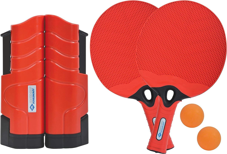 Donic-Schildkröt Ténis de Mesa Outdoor Flex, 2 Raquetas de Plástico Resistentes al Água, 2 Pelotas, Set de Red Retráctil y Ajustable, en una Práctica Caja Hermética, 788647