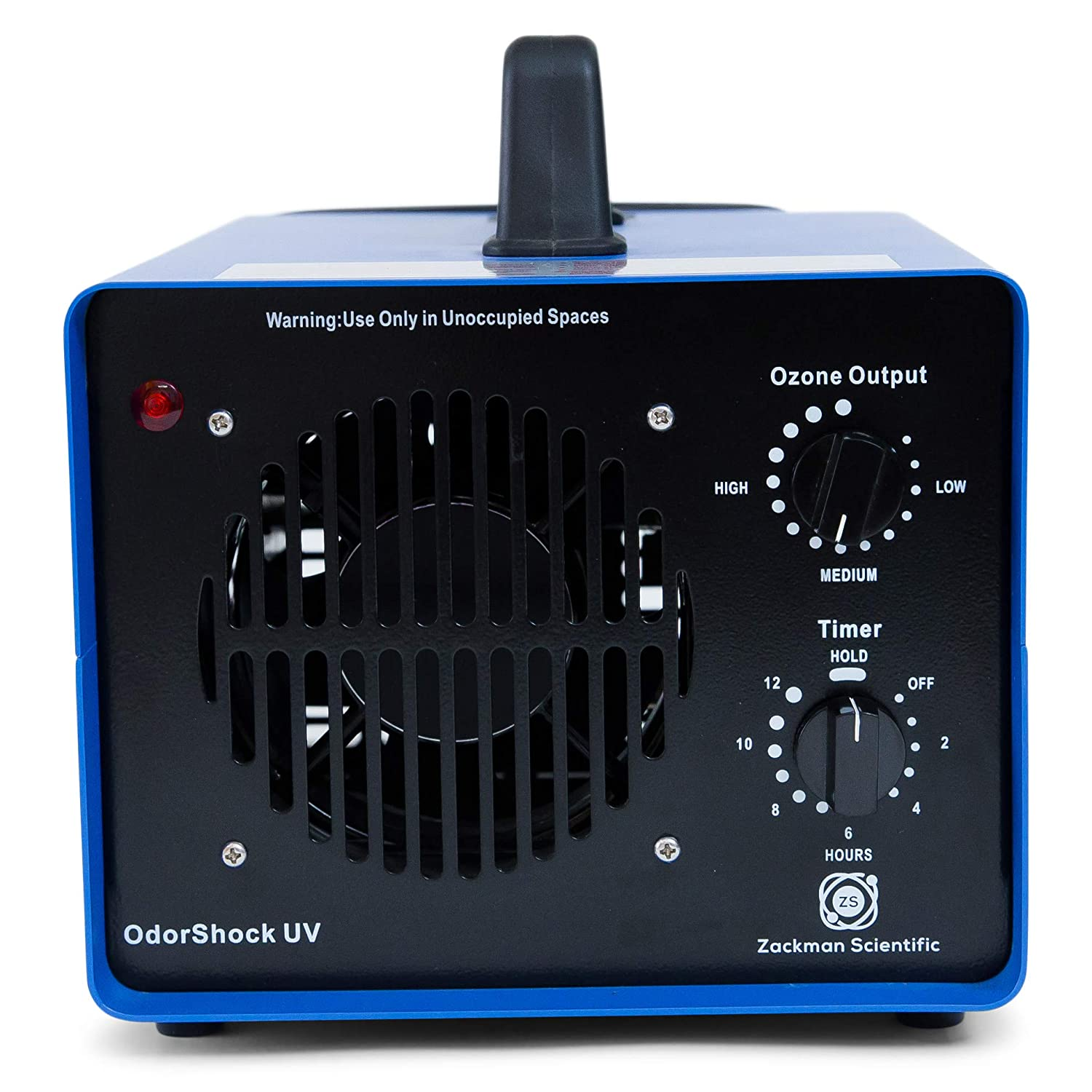 Zackman Odor Shock UV Ozone Generator Professional O3 Air Purifier Heavy Duty Air Cleaner, Deodorizer and Sterilizer Kill Mold, Permanently Removing Tobacco, Pet and Musty Odors at Their Source