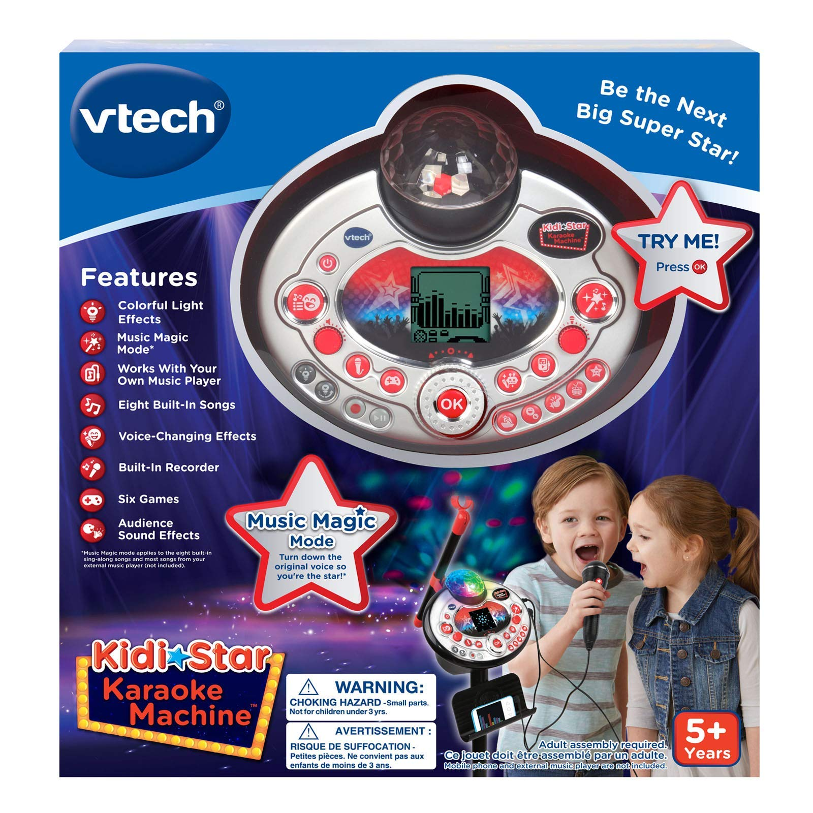 VTech Kidi Star Karaoke Machine (Black) (Renewed) by VTech (Image #7)
