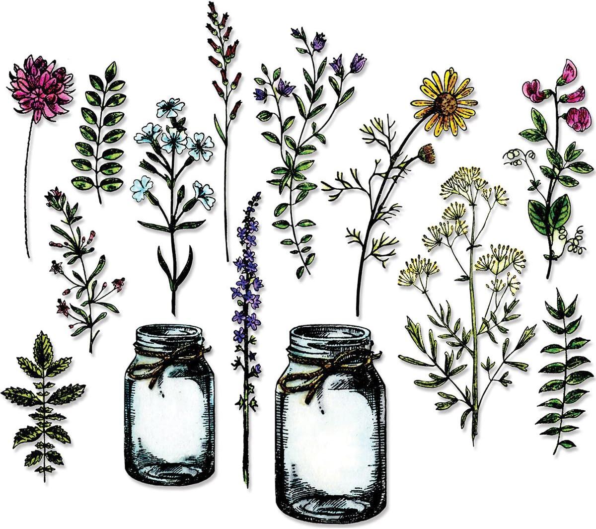 Sizzix Tim Holtz Framelits Dies 23//Pkg-Flower Jar