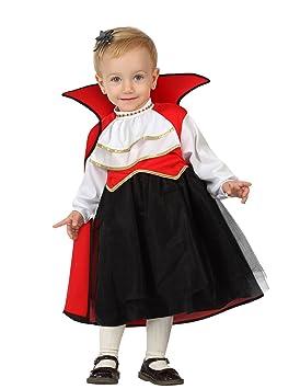 Atosa 26770 Disfraz vampiresa 12-24 meses, talla niña: Amazon.es: Juguetes y juegos