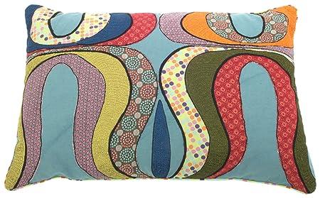 Ian snow wave applique cushion cover: amazon.co.uk: kitchen & home