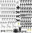 Action Figures Roman Medieval Knights Army Men Soldiers Bucket Playset with Accessories (120 Pcs)