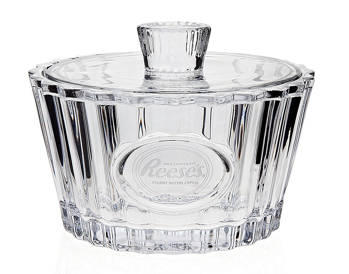 CRYSTAL COVERED CANDY BOX WITH HERSHEYS - REESES LOGO Godinger Silver Art COMINHKPR32526