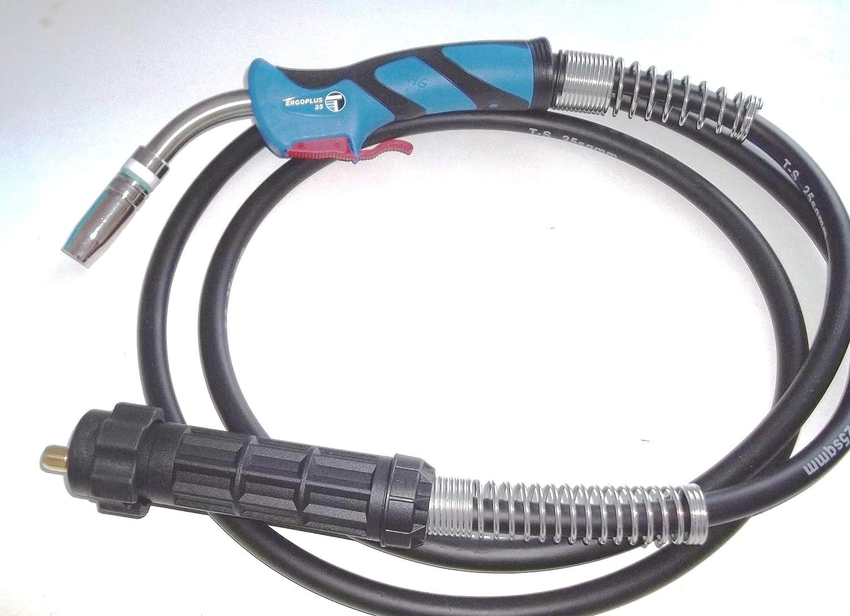Trafimet Ergoplus 25 Schlauchpaket MB 25 / MB 250 MIG/MAG Brenner 5m komplett mit Euro Zentralanschluss