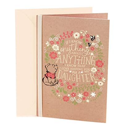 Amazon Hallmark Birthday Greeting Card For Daughter Winnie