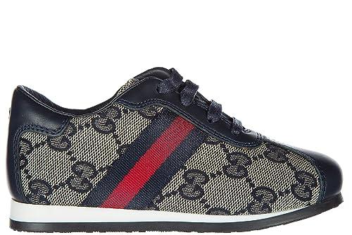 Pelle BluAmazon it Nuove Scarpe Sneakers Bambino Bimbo Gucci lF1cKJ