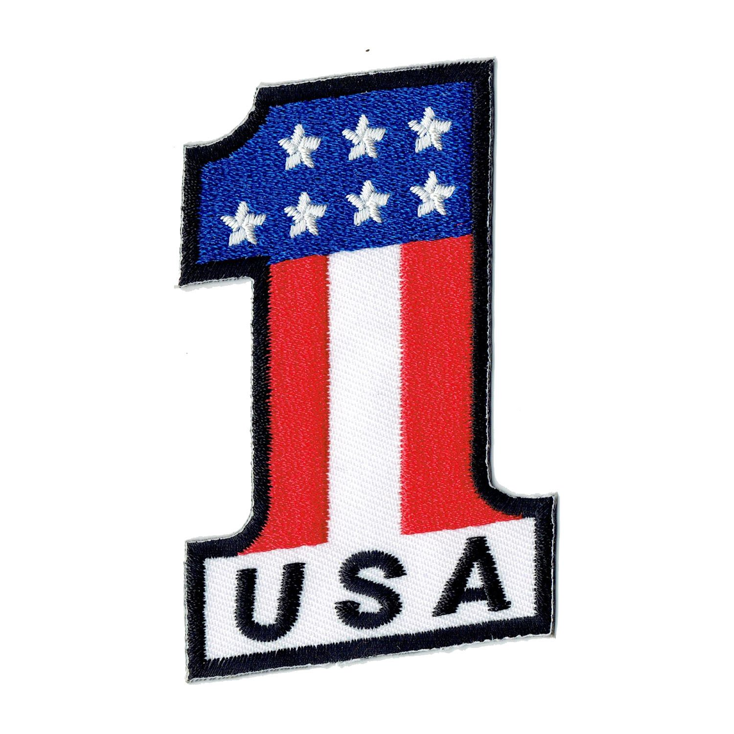 USA 1 Flag Stars and Stripes Rally Sew-On Badge Iron-On Patch 5.2 x 8.1 cm