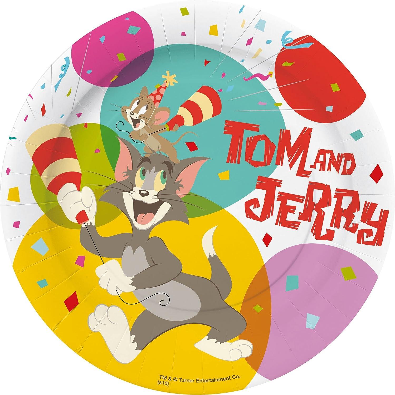 10 Piatti piccoli 18 cm Tom & Jerry Cake Party