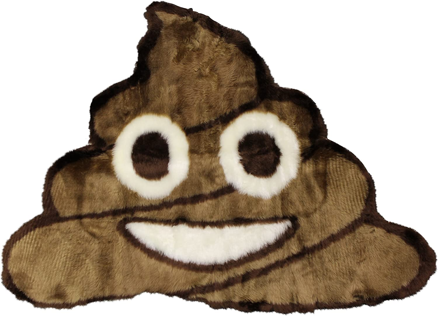 Walk on Me Poop Emoji Rug - Soft and Cute - Made in France - Perfect Emoji Mat for The Bathroom - Dorm Camp Bed Kids Room Emojis (Poop)
