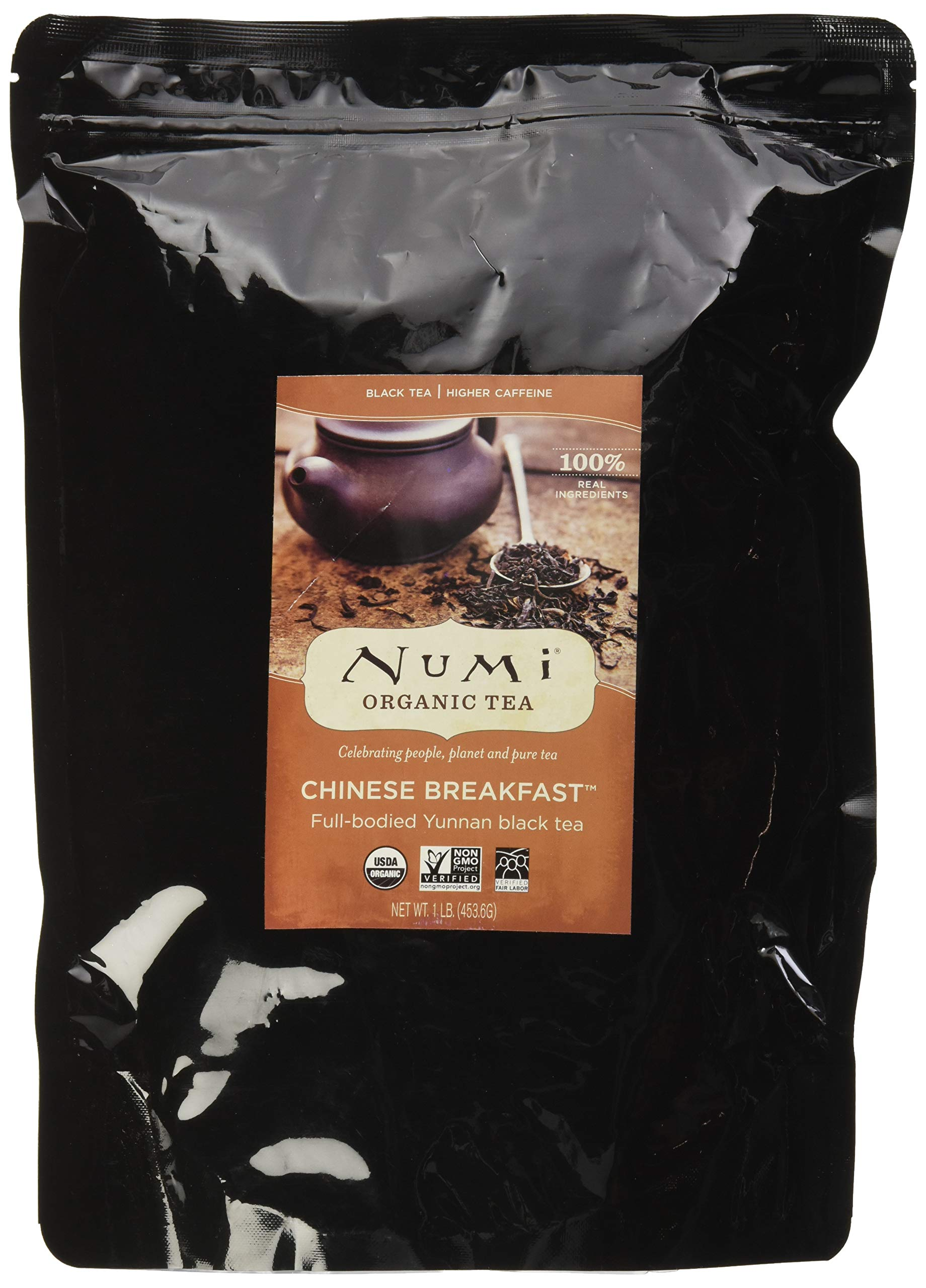 Numi Organic Tea Chinese Breakfast, 16 Ounce Pouch, Loose Leaf Yunnan Black Tea (Packaging May Vary) by Numi