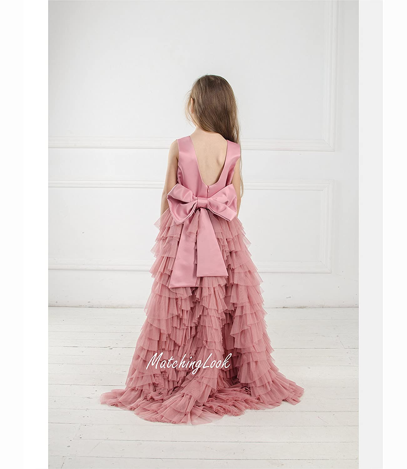 42420676b Amazon.com: Dusty Rose Flower Girl Dress Tulle Dress, Blush Flower Girl  Dress, Flower Girl Tutu Dress, Baby Girl Dress, Hi Low Dress, Blush Pink  Dress: ...