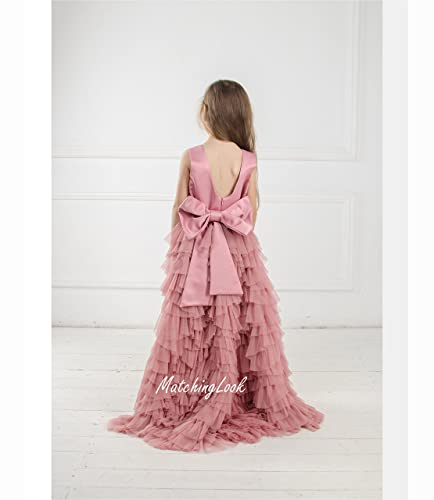 Amazon Dusty Rose Flower Girl Dress Tulle Dress Blush Flower
