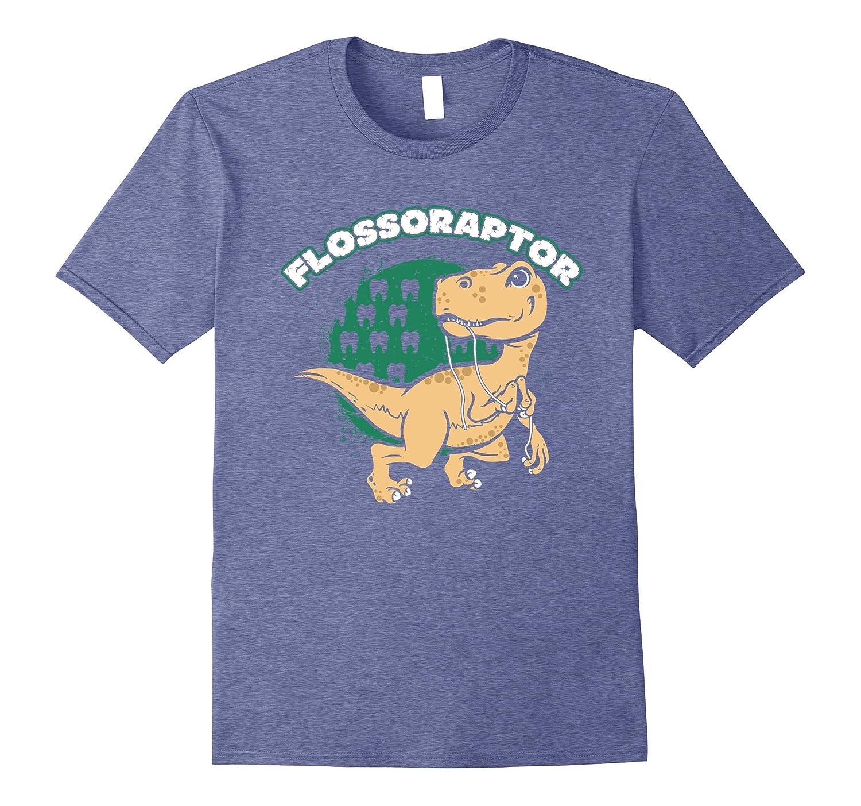 Flossoraptor Funny Dental T-Shirt Graphic-FL