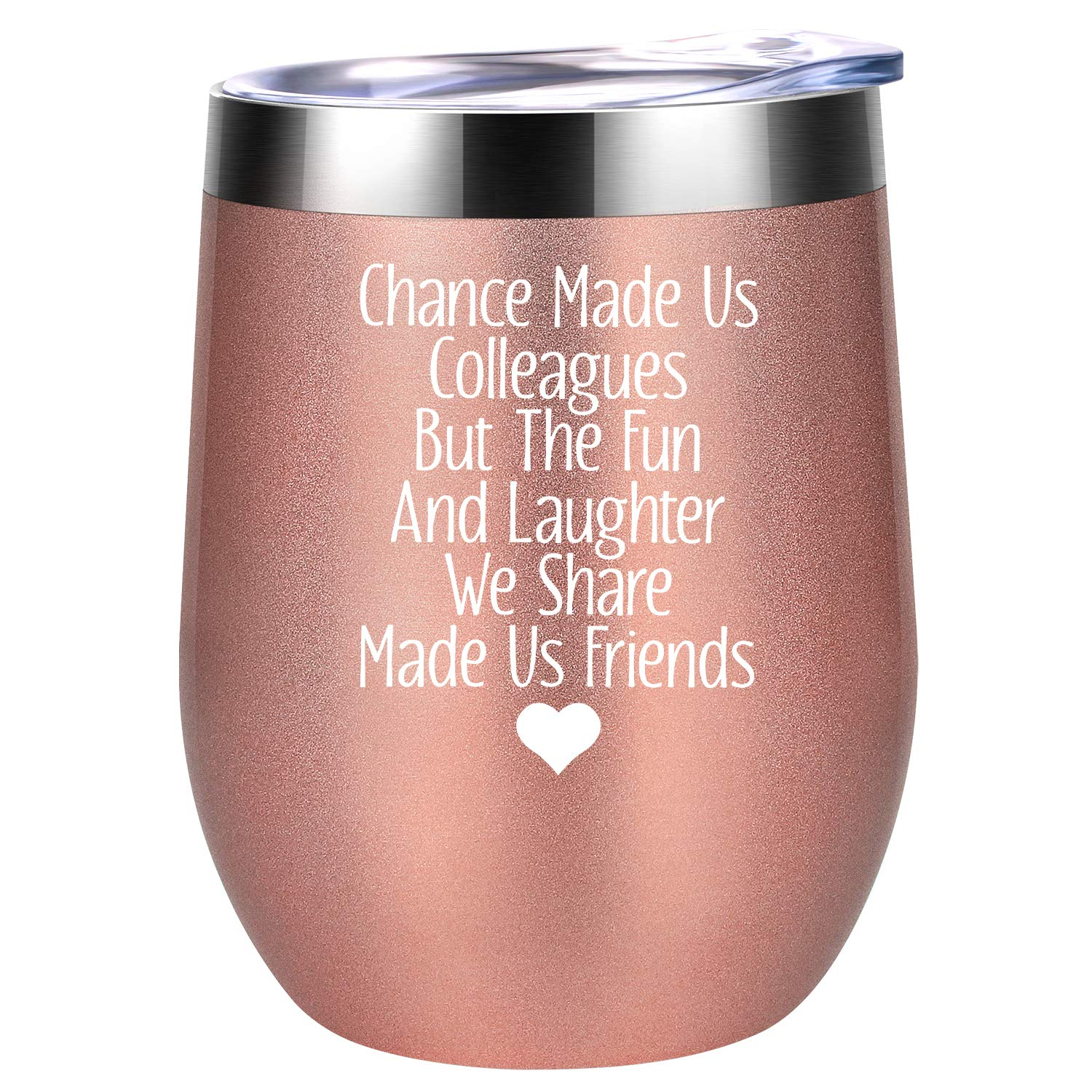 Gifts For Coworkers Coworker Christmas Gifts For Women Chance Made Us Colleagues Funny Office Gifts For Coworkers Birthday Going Away Gifts Ideas For Female Coworkers Coolife Wine