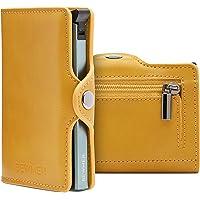BEWMER Billetera para Tarjetas de crédito Delgada con protección de Cerradura RFID Porta Tarjetas rígido anticontracción…