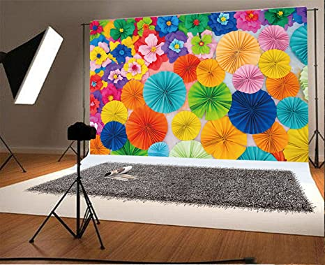 YongFoto 3x2m Vinilo Fondos Fotograficos 3D Flor de Papel Pared de Flores Floral de Moda Abstracto Fondos para Fotografia Fiesta Boda Adulto Retrato ...