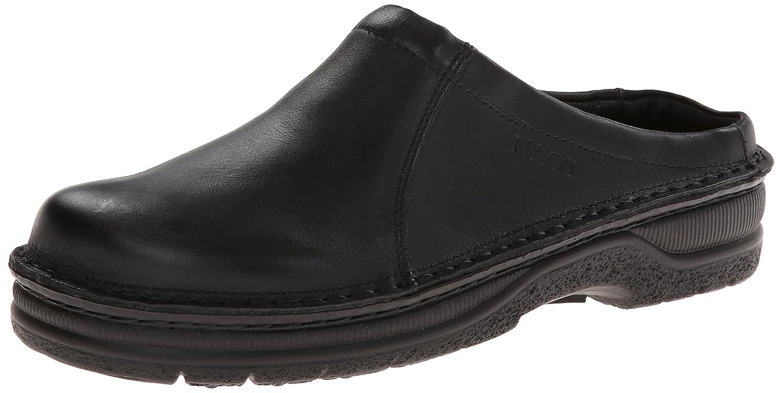 Black Matte Leather Naot Men's Bjorn Flat