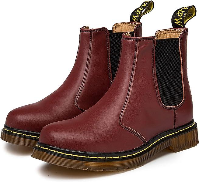 Botas de Piel Mujer Chelsea Boots Invierno Botines para Hombre Zapatos de Nieve 35-45