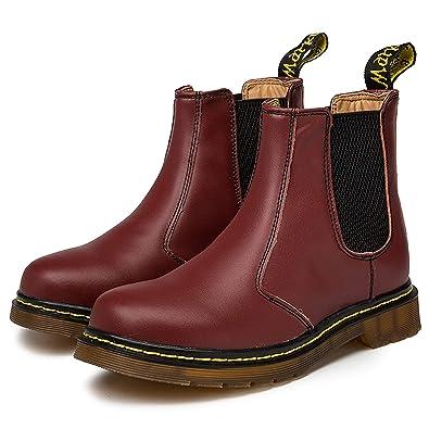 Zkyo Chelsea Boots Damen Herren Kurzschaft Winter Stiefel Warm