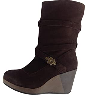 SCHOLL ISLINGTON F23113 1019 Damen Stiefel Schuhe Braun