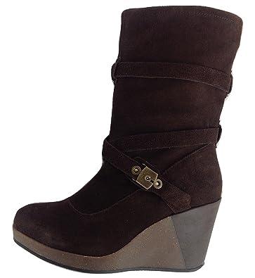 Scholl Dr Kessy Bottes Bottines Pour Femme à Talons Compensés Femme Boots Marron Foncé Dark Brown (1019) UE 36, UK 3 - Marron - Dunkelbraun/Dark Brown (1019),