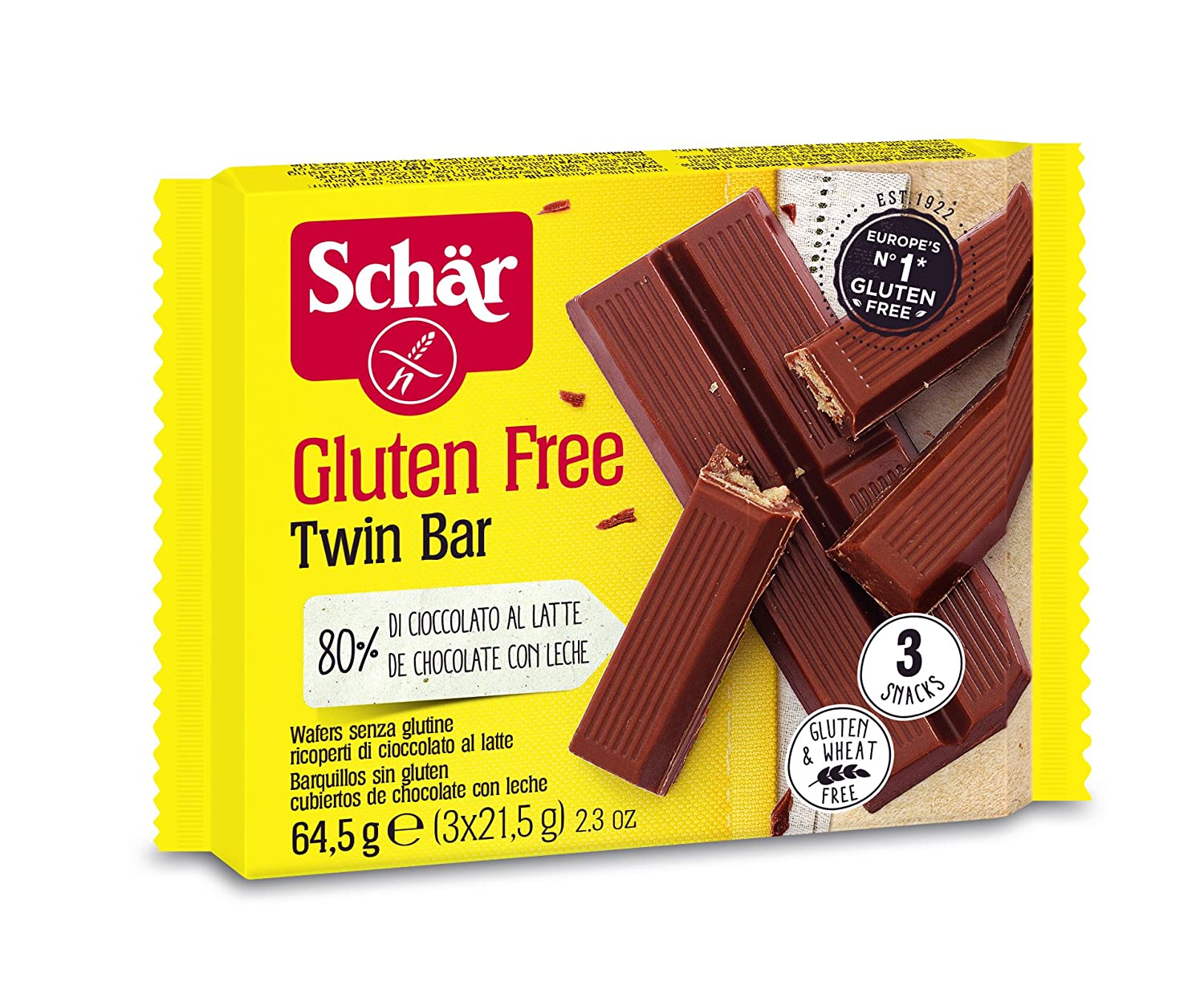 Amazon.com : Schär Twin Bar, 7er Pack (7 x 64, 5 g) : Grocery & Gourmet Food