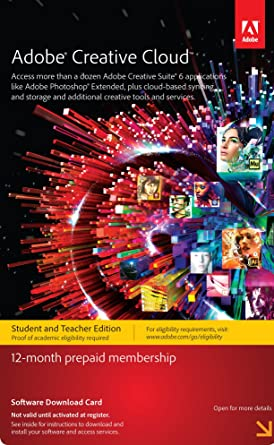 Amazon.com: Adobe Creative Cloud Student and Teacher Edition ...