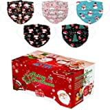 50 Pcs Christmas Disposable_Face_Mäsks in a Box for Adult,Multiple Pattern Combinations 3-ply Face Protection Pads for…