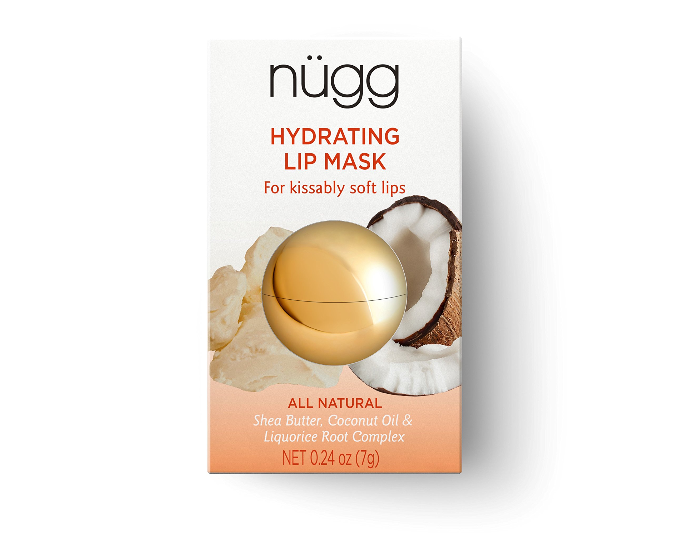 nügg All Natural Hydrating Lip Mask for Dry Lips; makes Lips Soft and Smooth; 0.24oz (7g)