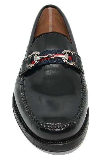 Zapato Mocasín Estilo Castellano con Gucci JOHN COLEMAN color Azul: Amazon.es: Zapatos y complementos