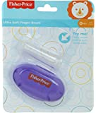 Fisher-Price Silicone Baby Finger-Brush with Case, Purple